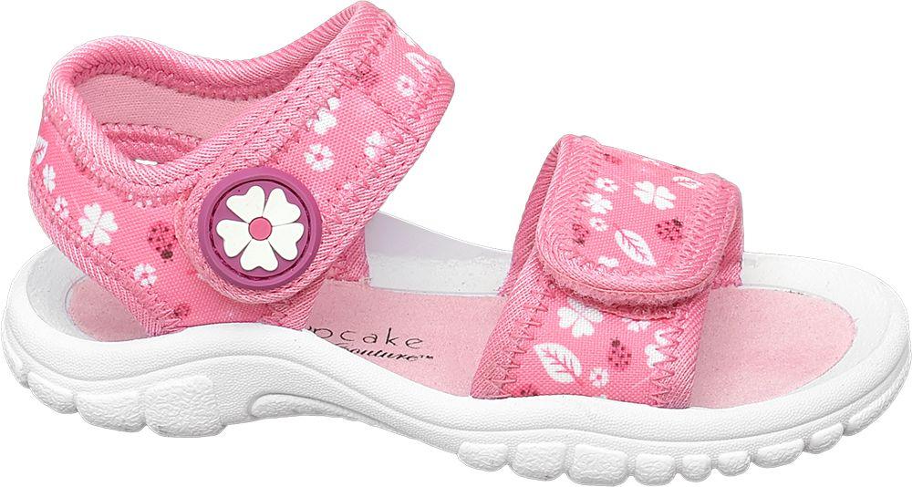 różowe sandały dziewczęce Cupcake Couture zapinane na rzepy