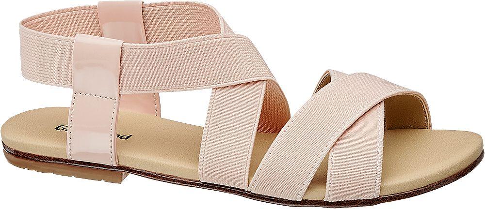 różowe sandały dziewczęce Graceland z elastycznymi paskami