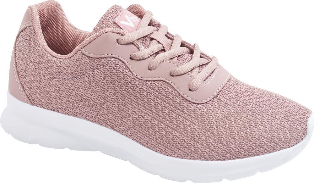 różowe sneakersy damskie Vty na białej lekkiej podeszwie