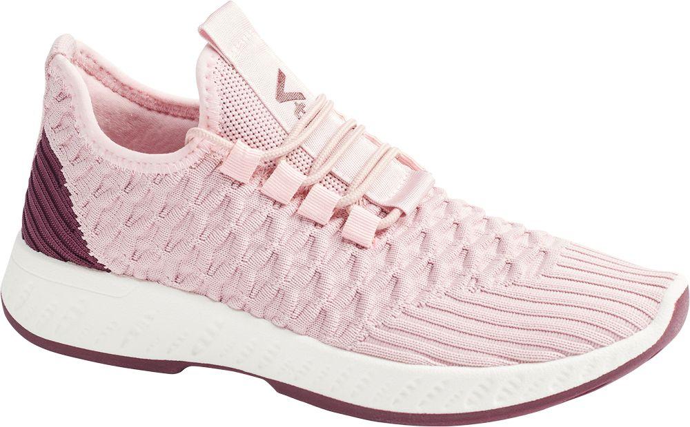 różowe sneakersy damskie Vty na lekkiej podeszwie