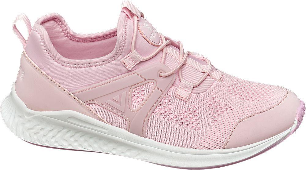 różowe sneakersy dziewczęce Venice z gumkami zamiast sznurówek