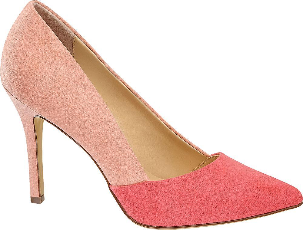 różowe szpilki damskie Graceland ze zgrabnym noskiem
