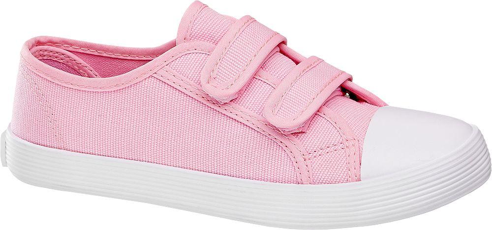 różowe tenisówki dziewczęce Vty zapinane na rzepy