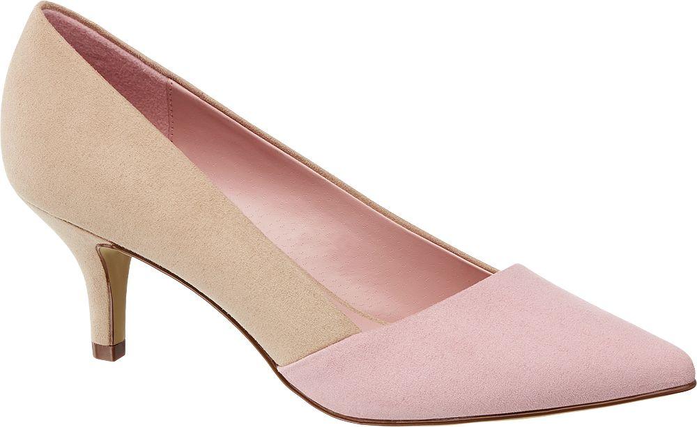 różowo-beżowe czółenka damskie Graceland