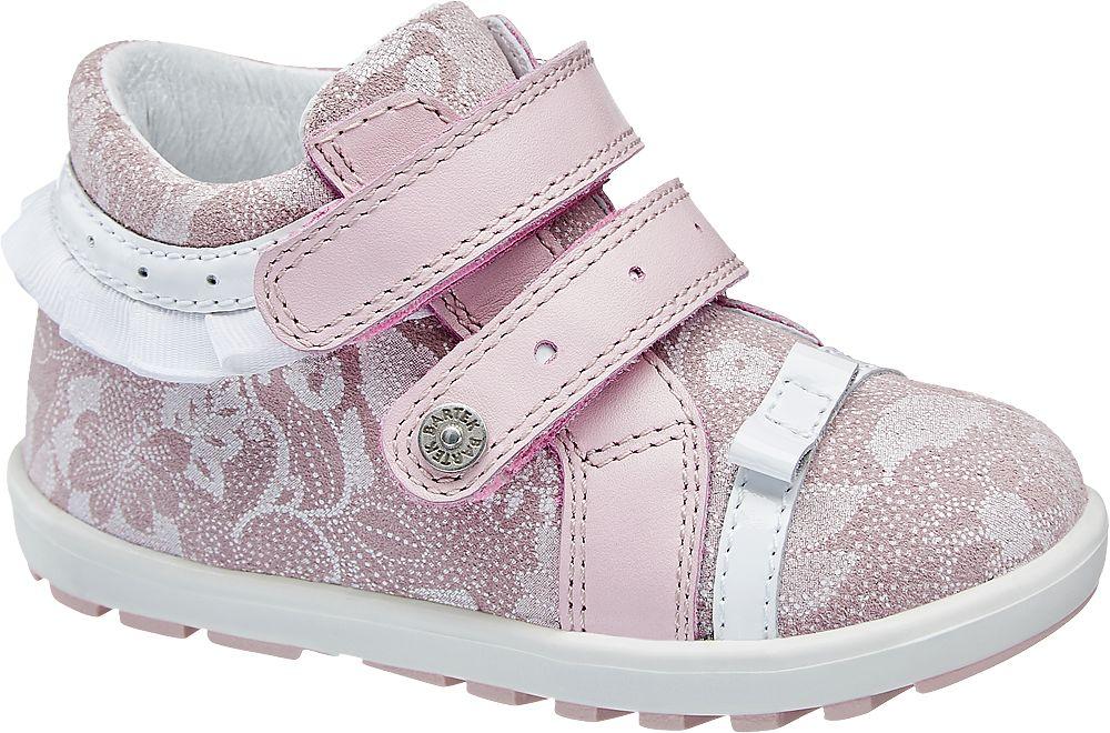 różowo-białe buciki dziewczęce Bartek zapinane na rzepy
