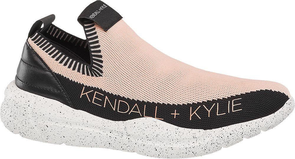 różowo-czarne sneakersy damskie Kendall + Kylie