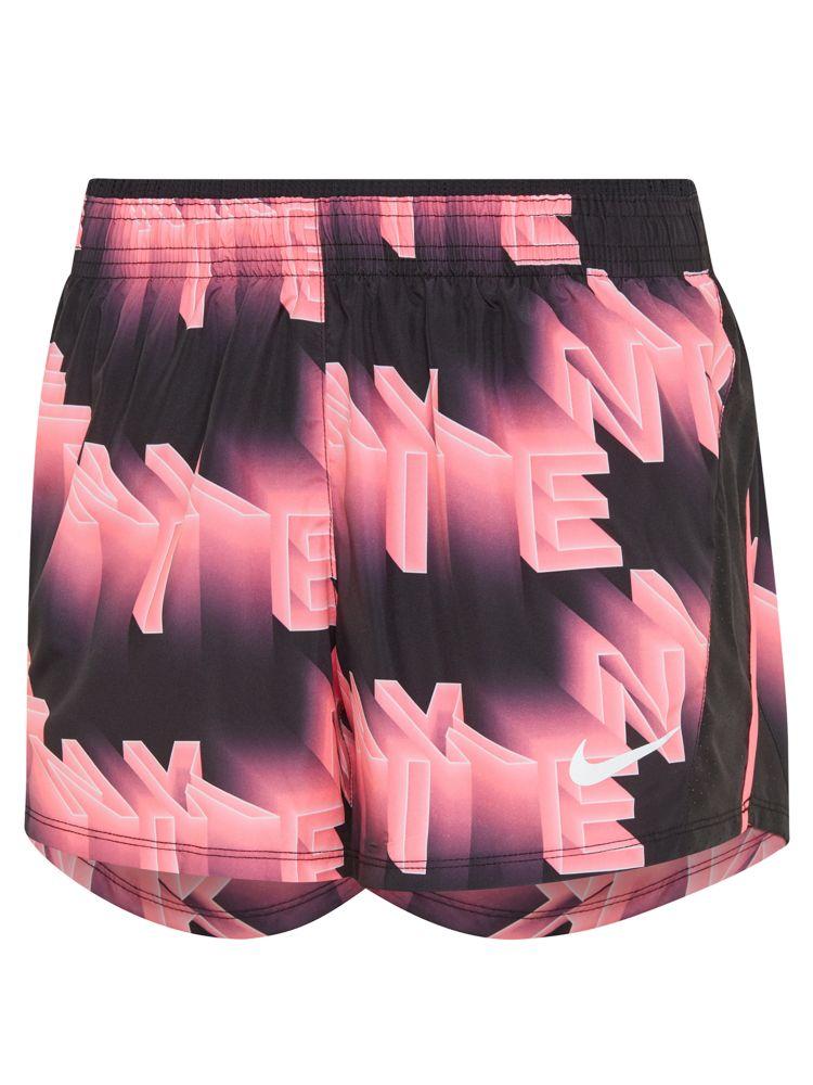 różowo-czarne spodenki damskie Nike do biegania