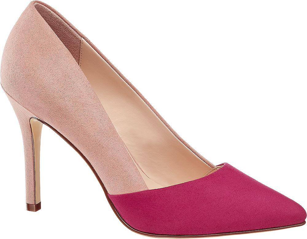 różowo-fuksjowe szpilki damskie Graceland