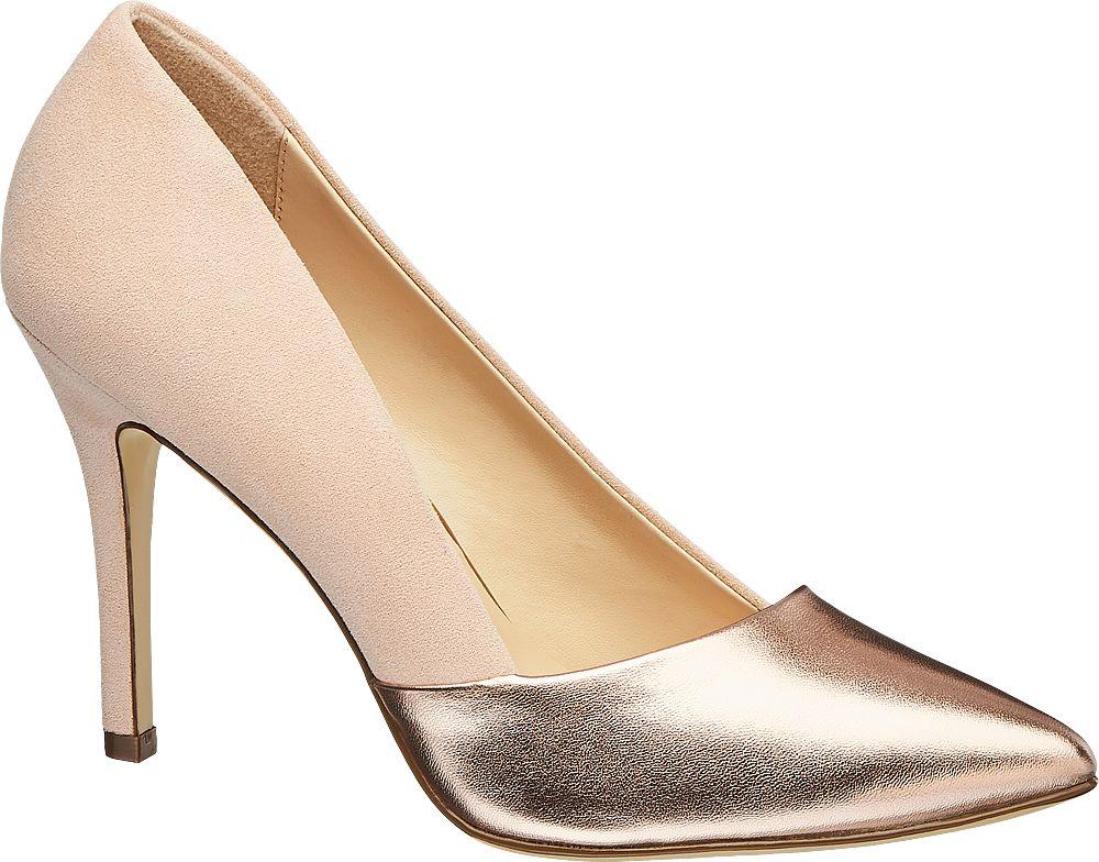 różowo-metaliczne szpilki damskie Graceland