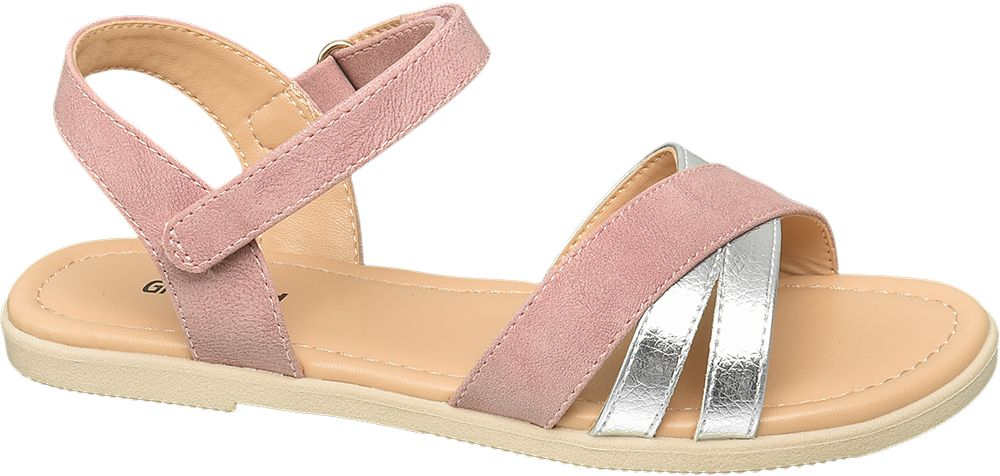 różowo-srebrne sandały dziewczęce Graceland
