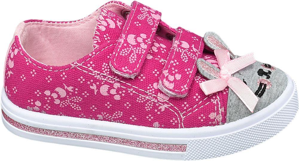 różowo-szare kapcie dziewczęce Cupcake Coutre zapinane na rzepy