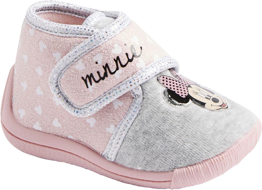 różowo-szare kapcie dziewczęce Minnie Mouse