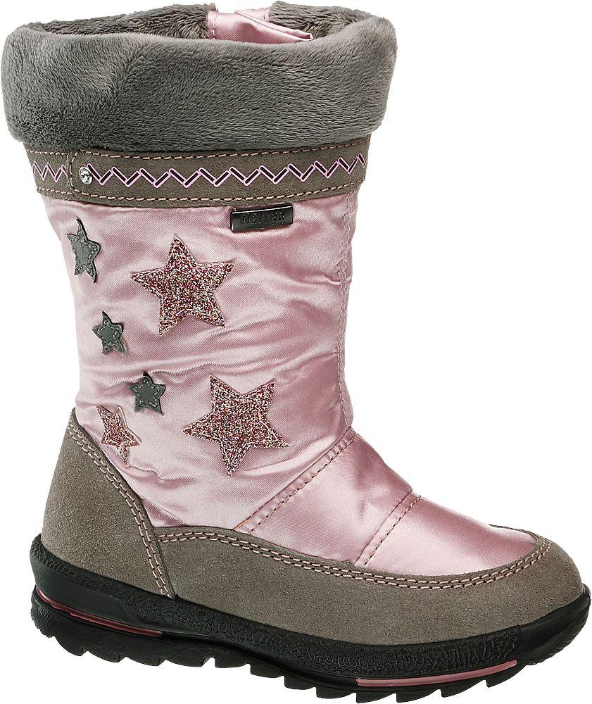 różowo-szare śniegowce dziewczęce Cortina