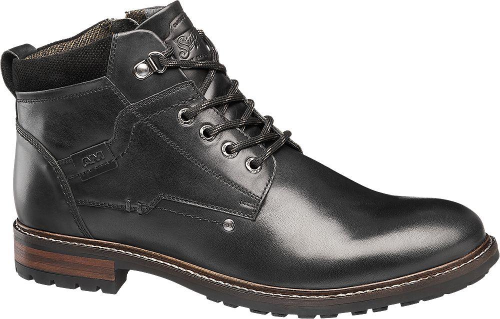 skórzane buty męskie Am Shoe na zimę