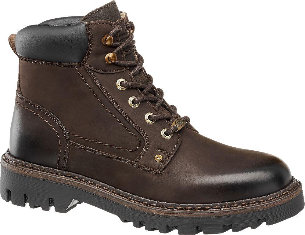 skórzane buty męskie na zimę marki Am Shoe