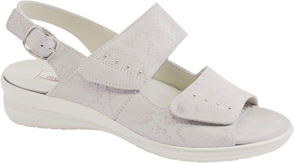 skórzane sandały damskie Medicus zapinane na rzepy, tęgość G
