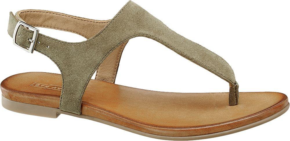skórzane sandały damskie 5th Avenue typu japonki