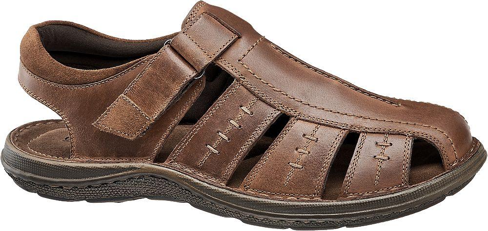 skórzane sandały męskie Claudio Conti w kolorze brązowym