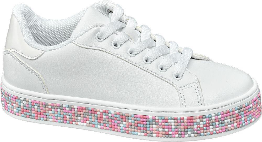 sneakersy dziewczęce Graceland na kolorowej podeszwie