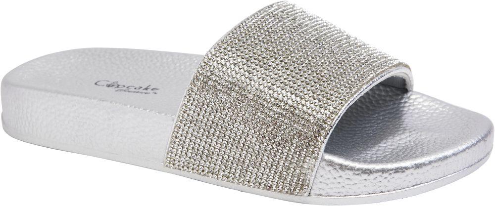 srebrne klapki dziewczęce Cupcake Couture