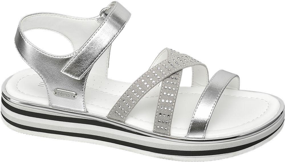 srebrne sandały dziewczęce Esprit