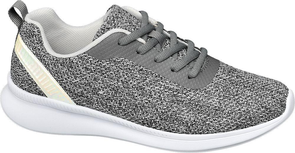 szare sneakersy damskie Graceland na białej podeszwie