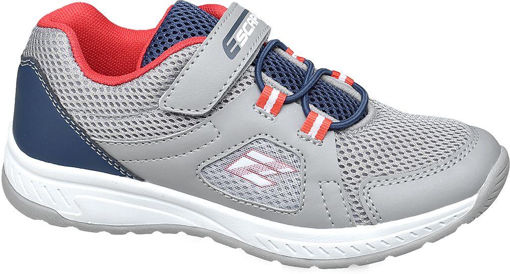 szaro-granatowe sneakersy chłopięce Vty z czerwonymi elementami