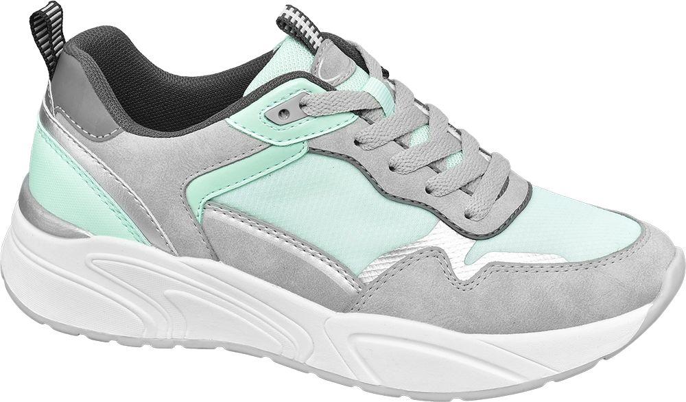 szaro-miętowe sneakersy damskie Graceland