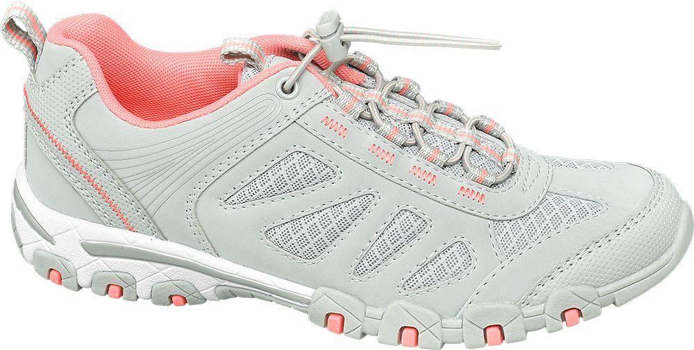 szaro-różowe sneakersy damskie Graceland ze ściągaczem