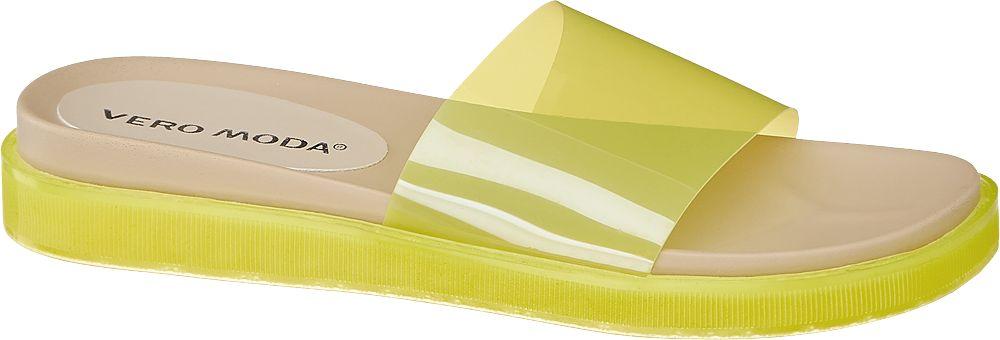 żółte klapki damskie Vero Moda