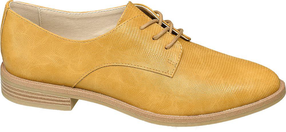 żółte półbuty damskie Graceland