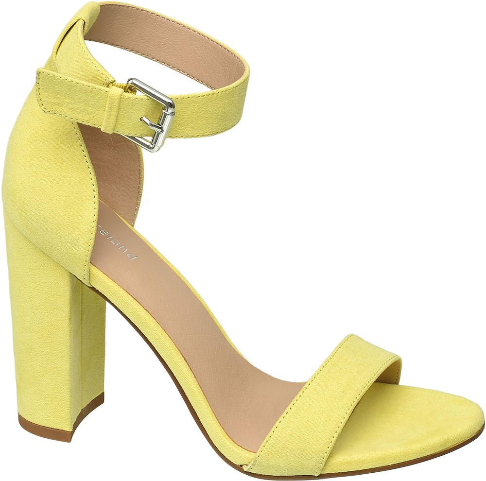 żółte sandałki Graceland na obcasie