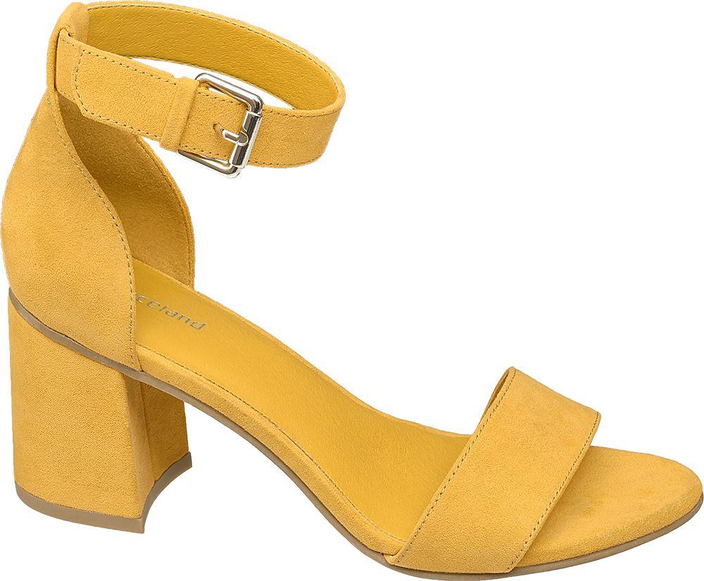żółte sandałki damskie Graceland na obcasie