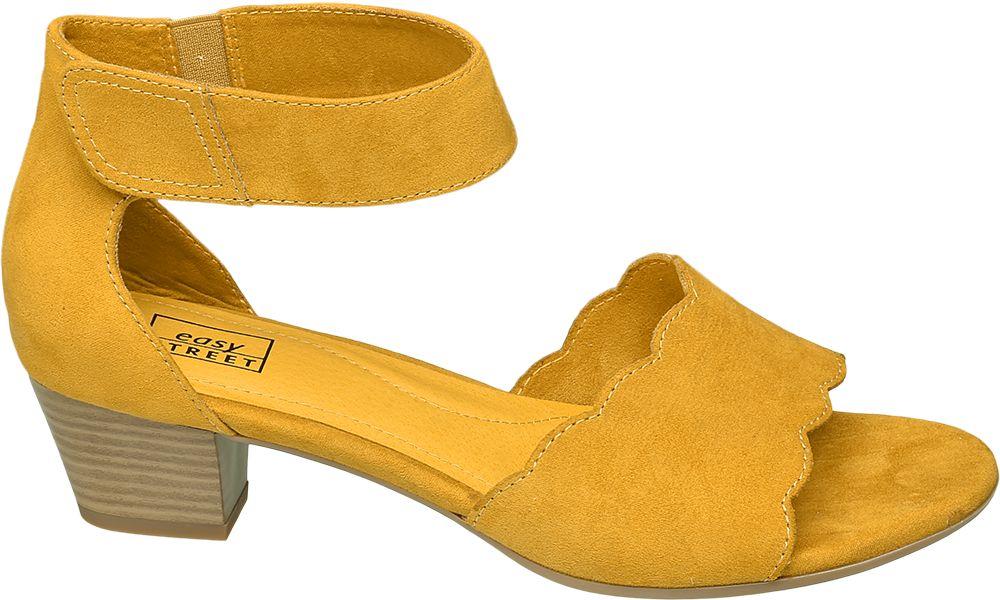 żółte sandały damskie Easy Street
