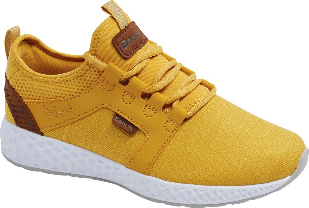 żółte sneakersy damskie Bench na białej podeszwie