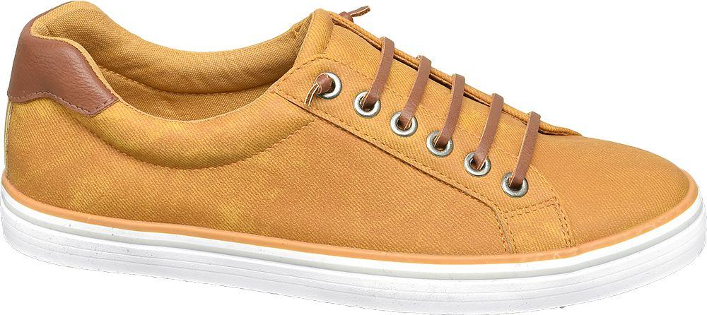 żółte sneakersy damskie Graceland na białej podeszwie