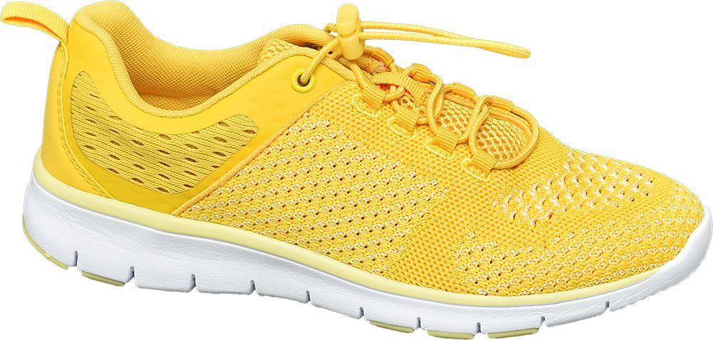 żółte sneakersy damskie Venice na białej lekkiej podeszwie