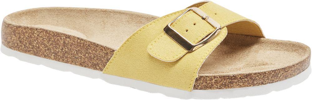 żółte wygodne klapki damskie Graceland