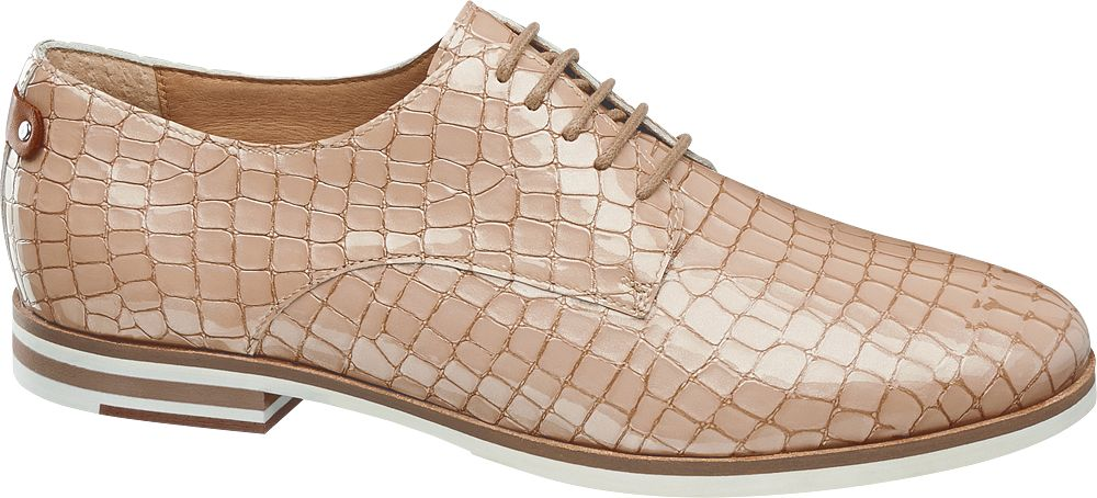 Reptile Print Laceup Shoes