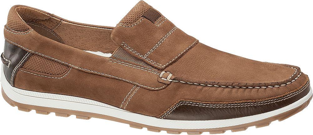 zamszowe mokasyny męskie Am Shoe w kolorze brązowym