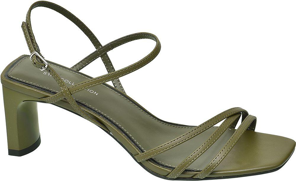 zielone sandały damskie Star Collection na obcasie
