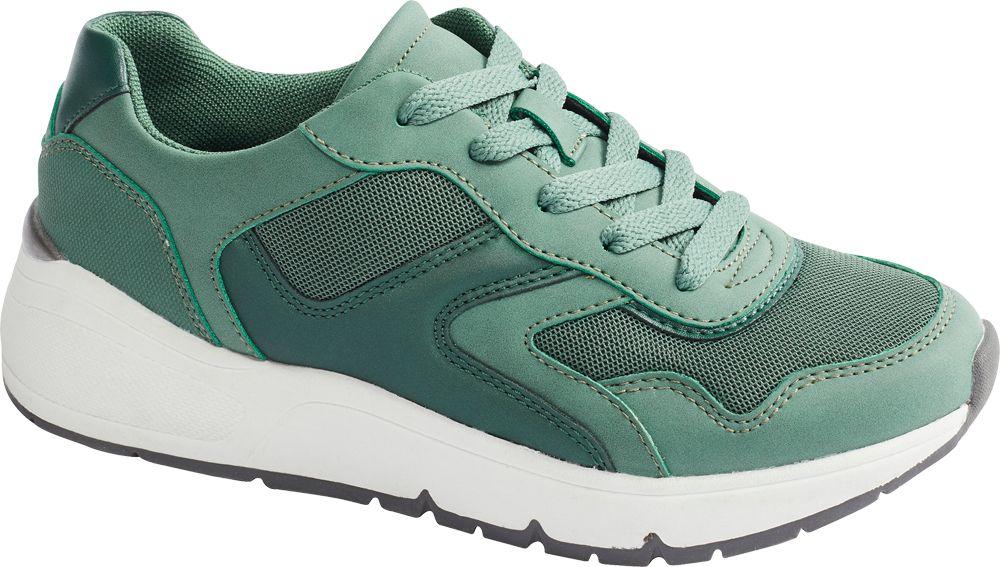 zielone sneakersy damskie Graceland na grubej podeszwie