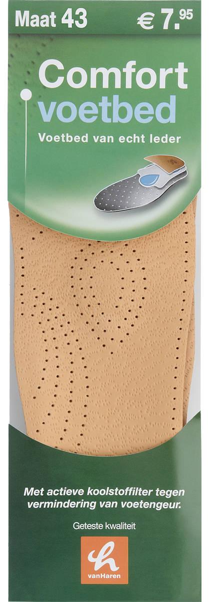 Comfortzool met leder voetbed (maat 43)