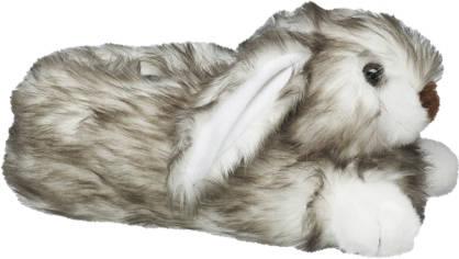 Casa mia Grijze konijn pantoffel