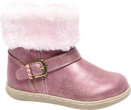 Bobbi-Shoes Laars met bontkraag en warmgevoerd