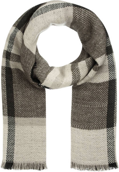 Checked Print Scarf