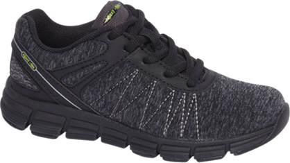 Agaxy Zwarte lightweight sneaker memory foam