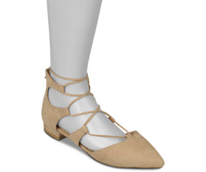 La Strada Lace Up-Ballerina