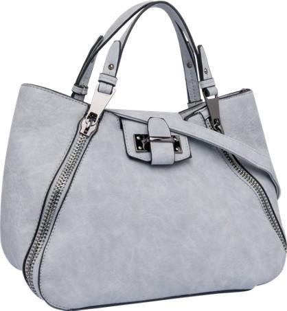 Ladies Zip Detail Tote Bag