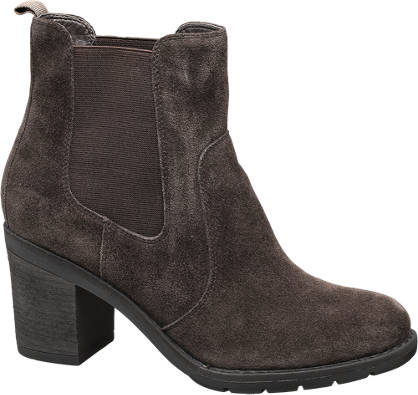 5th Avenue Donkerbruine suède chelsea chelsea boot